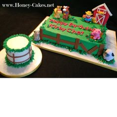 First Birthday Farm theme cake