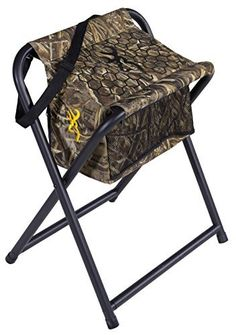 Browning Camping SteadyReady Hunting Stool with Insulated Cooler Bag  The SteadyReady stool provides the comfort and support you want and need and keeps you in the hunter ready position. If you're doing your research and comparing our stool to other competitors on the market, you will find that our stool is considerably wider, making it more comfortable when you have to stay seated for extended periods of time. The slanted seat is angled to the perfect position to have you prepared when it…