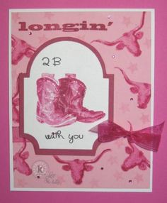 Longin' 2 B with You by Lynn McAuley. Stamps from Kitchen Sink Stamps.