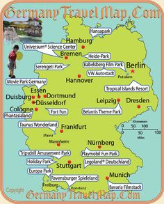 a map of German theme parks