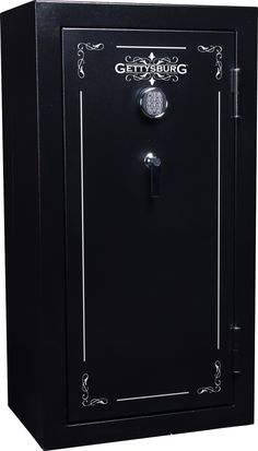 This 24 gun safe is a great way to protect your firearms as well as the people in your home. This gun safe can store up to 24 firearms safely and securely. The lock is prog Gun Storage, Locker Storage, Safes For Sale, Electronic Lock, Gettysburg, Filing Cabinet, Guns, Doors, Hunting Season