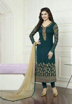 #Kaseesh #Prachi Indian #SalwarKameez Suit Vol16 3579 #Teal