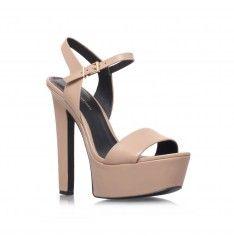 'Heidi' nude platform sandals by KG Kurt Geiger