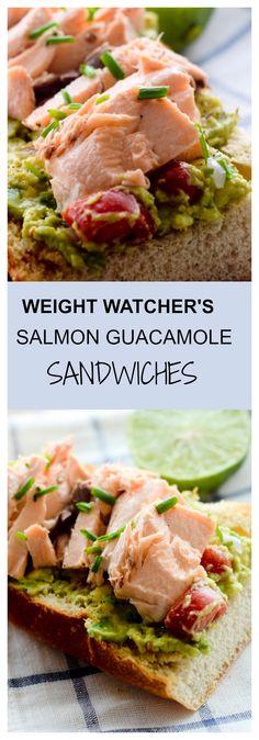 Salmon Guacamole Sandwiches - Recipe Diaries #Salmon #sandwiches