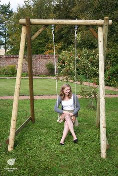 Image result for round timber swing