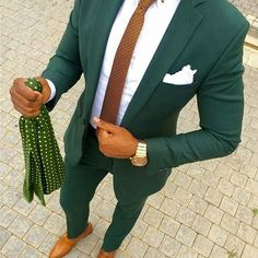 Green with brown looks so good Follow us: @snazzy_men www.snazzymen.com #menslook #ootd #blackbowtie #mensfashion #menswear #bowties #tomfordbowtie #dapper #mensaccessories #sartorial #lookbook #lapelpin #bracelet #pinstagram #pingamestrong...