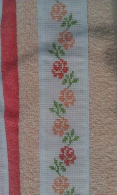 From the blue designs Easy Cross Stitch Patterns, Cross Stitch Borders, Simple Cross Stitch, Cross Stitch Rose, Cross Stitch Flowers, Cross Stitch Designs, Cross Stitching, Cross Stitch Embroidery, Hand Embroidery Designs