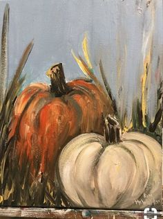Pretty acrylic painting to try to DIY. Fall Canvas Painting, Autumn Painting, Autumn Art, Tole Painting, Painting & Drawing, Canvas Art, Pumpkin Painting, Canvas Paintings, Fall Paintings