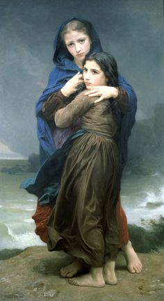 William-Adolphe Bouguereau, Far from home  I love this. Their expressions are captured so beautifully