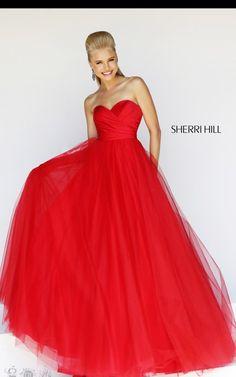 Sweetheart Sherri Hill 11066 Red Long Ball Gown