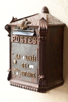Amazing antique French mailbox! 1st dibs find!