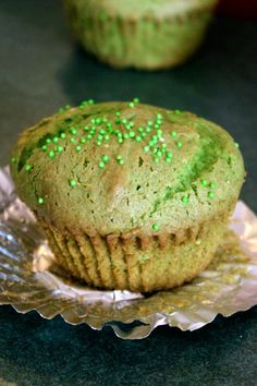 Spinach cupcakes! natural food colorant and also some vitamins but still very sweet. awesome!