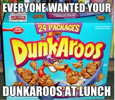 dunkaroos, ah man, these were the best snacks! 90s Childhood, My Childhood Memories, 90s Food, Love The 90s, Oldies But Goodies, Good Ole, 90s Kids, The Good Old Days, In Kindergarten
