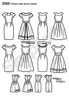 Womens and Miss Petite Project Runway pattern 2588 Simplicity