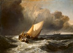 Possibly my favourite marine painting, J.M.W. Turner's Dutch Boats in a Gale (the Bridgewater Sea Piece), 1801