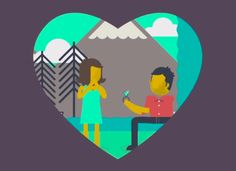 This animated proposal is too cute!