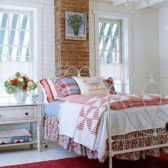patriotic cottage bedroom