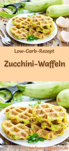 Low-Carb-Rezept für Zucchini-Waffeln: Kohlenhydratarm, kalorienreduziert, ohne Getreidemehl, gesund ... #lowcarb #frühstück