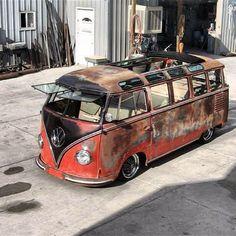 ✪ Bus Volkswagen, Vw T1, Vw Camper, Campers, T1 Samba, Rat Look, Rusty Cars, Vw Cars, Custom Vans