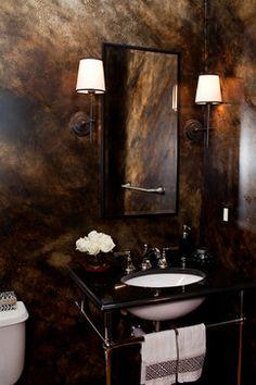 Bachelor Pad - eclectic - powder room - baltimore - Elizabeth Reich