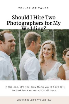 Should I Hire Two Photographers for my Wedding? Wedding Advice, Plan Your Wedding, Wedding Planning, Photography Timeline, Wedding Photography, Looking Back, Photographers, Things To Come, How To Plan