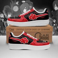 Akatsuki Cloud Air Force Sneakers Naruto Anime Custom Shoes PT10 Air Force Shoes, Air Jordan Shoes, Nike Air Force, Naruto Shoes, Custom Shoes, Custom Af1, Custom Sneakers, Shoes Sneakers, Teen Stores