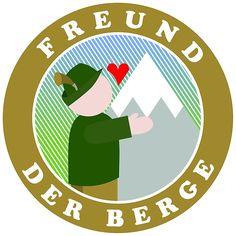 Freund der Berge It Works, Illustrations, Mountains, Friends, Illustration, Nailed It, Illustrators