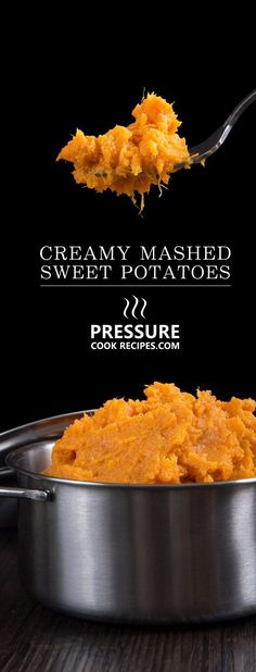 5 mins prep + 6 simple ingredients to make this Easy Creamy Pressure Cooker Mashed Sweet Potatoes Recipe. Switch up your mashed potatoes with this buttery smooth, sweet & savory side dish, full of texture & fragrance. Sure to be a hit at your dining table!