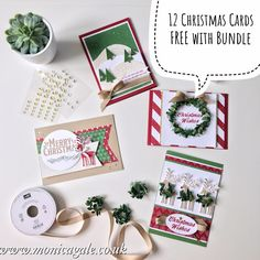 Monica Gale Top STAMPIN'UP! UK Demonstrator: Stampin' Up! Be Merry Suite - 12 FREE CHRISTMAS CARDS straight to your door