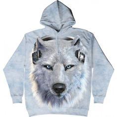 The Mountain Gray Wolf Hoodie - Unisex Wolf Hoodie, White Wolf, Hoodies, Sweatshirts, Nike Jacket, 3 D, Raincoat, Unisex, Grey