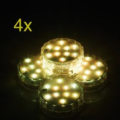 Weanas® 4x Submersible Lights Candles Multi Color RGB 10 LED with Remote Control Replaceable Battery Underwater Waterproof Lamp for Christmas Birthday Wedding Party with Battery  http://www.amazon.com/dp/B00J22N44G/ref=cm_sw_r_pi_dp_PDgFub06SW6XD
