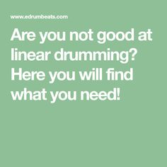 Are you not good at linear drumming? Here you will find what you need! Page Eight, Drums Sheet, Drums Beats, Notes, Report Cards, Notebook
