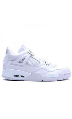sale retailer 88c6b 5bf71 Jordan Shoes Air Jordan 4 Retro Pure Money White Metallic Silver  Air Jordan  4 - Capturing the pure white color way, this Air Jordan sneaker is a must  have ...