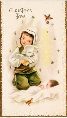 baby lamb meets baby Jesus