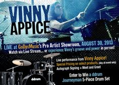 WIN 5 A Piece Drum Set!  Wach out live stream to win. Enter here     #drum #drummers #drumset #ddrum