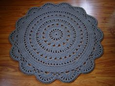 Round crochet doily rug / crochet carpet / crochet rug / gray / white / pink/ green / red / blue / yellow / claret / black / navy