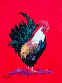 Kitchen Rooster Painting