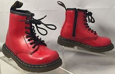 DR. MARTENS Brooklee Red Patent Boots punk grunge Toddlers US 7 girls - http://clothing.goshoppins.com/baby-toddler/dr-martens-brooklee-red-patent-boots-punk-grunge-toddlers-us-7-girls/