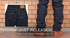 """""""Just Released - The Flat Head Tapered 3012 Jeans Model""""  http://www.denimfuture.com/read-journal/just-released---the-flat-head-tapered-3012-jeans-model"""