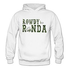Camouflage Rowdy Like Ronda Classic Womens Hooded Hoodies White XXL * Check this awesome product by going to the link at the image.