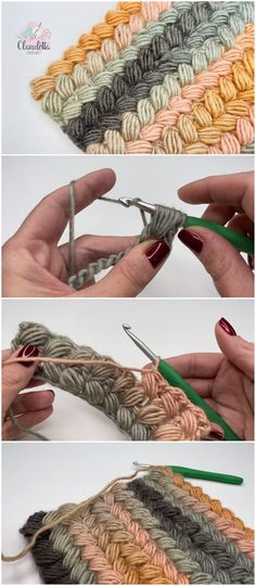 Crochet Braided Pouf Stitch - Mode # Crochet Braids Like .- Crochet the braided puff stitch – mode # crochet braids How to crochet the braided puff stitch knitting for beginners … Puff Stitch Crochet, Mode Crochet, Crochet Diy, Crochet Amigurumi, Crochet Stitches, Crochet Ideas, Hat Crochet, Crochet Cross, Tunisian Crochet
