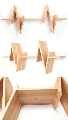 Beat Shelf represents the pulsing heart . - Beat Shelf Represents The Pulsing Heart Adding Dynamic Look To Room Decor -