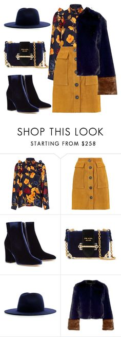 """Untitled #562"" by rebecky89 ❤ liked on Polyvore featuring Mother of Pearl, M.i.h Jeans, Gianvito Rossi, Prada, Études and Staud"