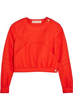 Marni - Cropped Twill Top - Red - IT38