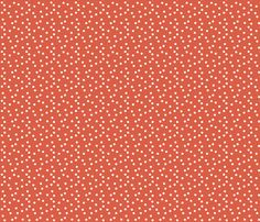 Christmas Dots - Red fabric by andrea_lauren on Spoonflower - custom fabric