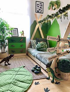 Mum creates a dinosaur bedroom using bargain buys from Wilko, Primark and Argos Dinosaur Kids Room, Boys Dinosaur Bedroom, Dinosaur Room Decor, Boy Toddler Bedroom, Boys Bedroom Decor, Baby Boy Rooms, Bedroom Themes, Toddler Boy Room Ideas, Kids Bedroom Ideas
