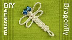 How to make DRAGONFLY (DIY) Good project for beginners and children. It can be an interesting camp craft for idle time to keep young hands busy. These dragonflies can be made into brooches, hairclips, keyrings, keychains, clothing decorations, and whatever else strikes your fancy. Here is used a square knot.  #HowTo #Macrame #Dragonfly