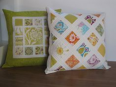quilted pillows by RebelHomemaker, via Flickr