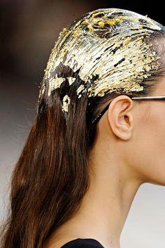 Gold leaf! #gold #hair