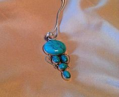 NEW  LISTING  TURQUOISE 925 Silver Pendant.. 99 by BESTBUYONLINES, $29.00